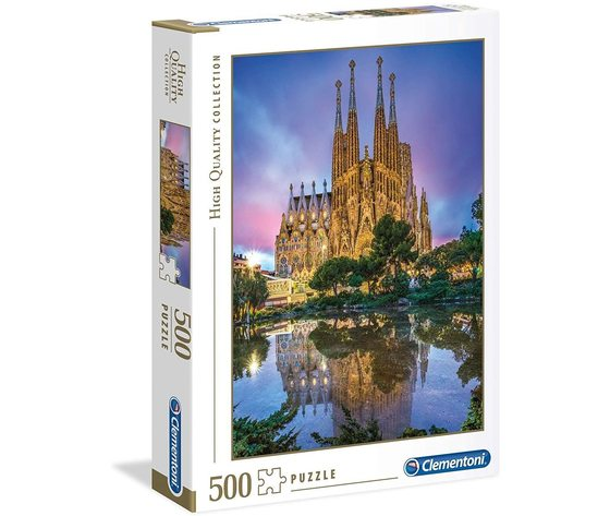 Clementoni 35062 - Puzzle 500 Pezzi - Barcelona: Sagrada Familia
