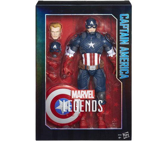 Marvel Legends - Captain America - Action Figure Collezione, 38 cm
