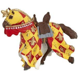 Papo 39754 - Cavallo Medievale Rosso, 10cm
