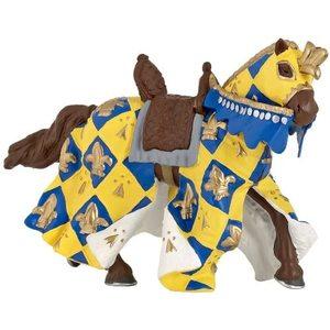 Papo 39755 - Cavallo Medievale Blu, 10cm