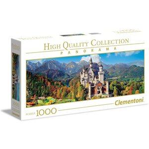 Clementoni 39438 - Puzzle 1000 pezzi Panorama - Neuschwanstein