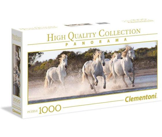 Clementoni 39441 - Puzzle 1000 pezzi Panorama -  Running Horses