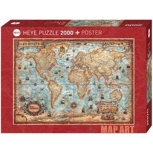 Heye 29845 - Puzzle 2000 pezzi - The World Stand Art