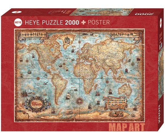 Heye 29845 - Puzzle 2000 pezzi - The World Stand Art