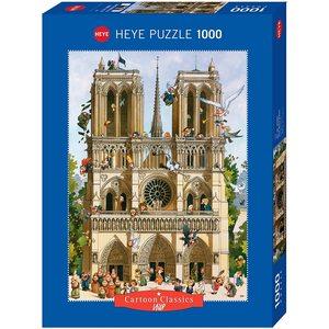 HEYE 29905 - Puzzle 1000 pezzi - Vive Notre Dame!