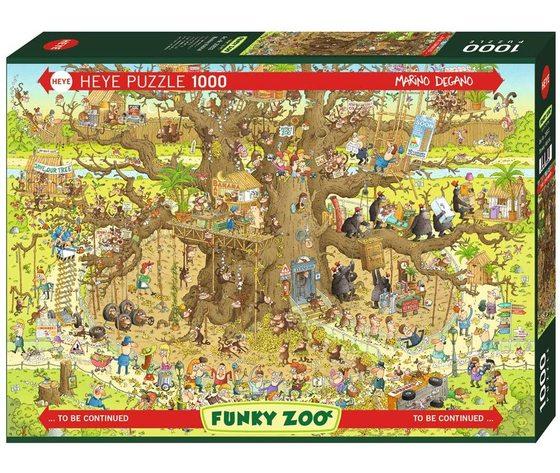 Heye 29833 - Puzzle 1000 pezzi - Monkey Habitat