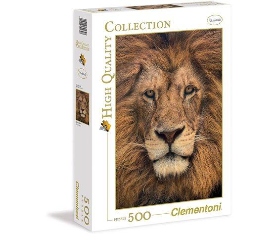 Clementoni 30230 - Puzzle 500 Pezzi - Lion Face