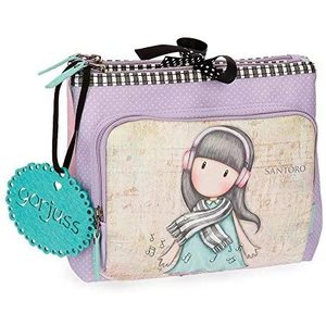 Gorjuss - Lost In Music - Beauty Case da viaggio, 27 cm, 4.59 litri