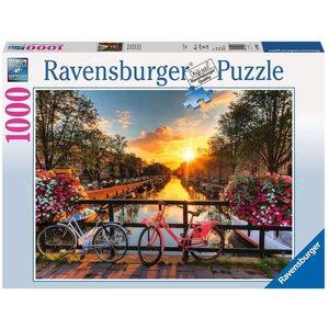 Ravensburger 19606 - Puzzle 1000 Pezzi - Biciclette ad Amsterdam