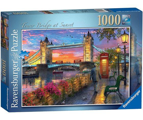 Ravensburger 15033 - Puzzle 1000 Pezzi: Tower Bridge al tramonto