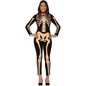 Guirca 88762 - Costume Donna: Tuta Scheletro