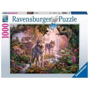 Ravensburger 15185 - Puzzle 1000 Pezzi: Lupi d'Estate