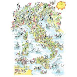Akena FV2471 - Puzzle 1080 Pezzi: Unità d'Italia