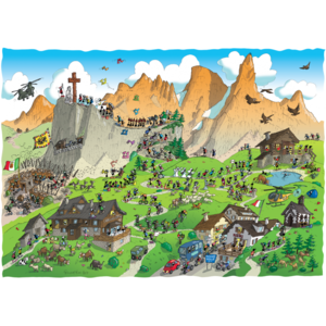 Akena FV2492 - Puzzle 1080 Pezzi: Trekking