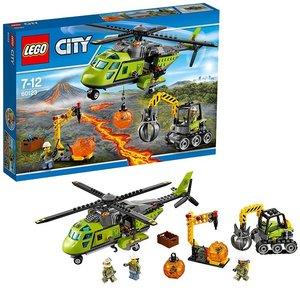 Lego 60123 - Set Costruzioni City Vulcano Elicottero Dei Rifornimenti Vulcanico