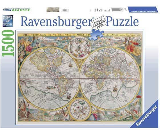 Ravensburger 16381 - Puzzle 1500 Pezzi: Mappamondo Storico