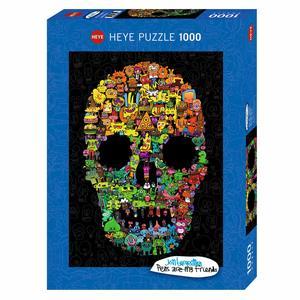 Heye 29850 - Puzzle 1000 Pezzi: Doodle Skull