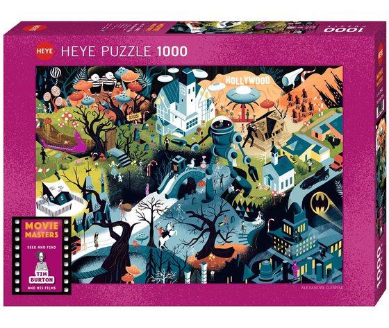 Heye 29882 - Puzzle 1000 Pezzi: Tim Burton Films