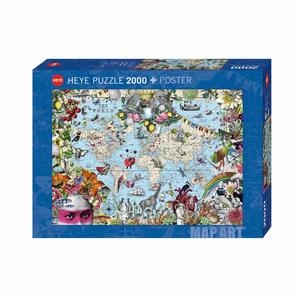 Heye 29913 - Puzzle 2000 Pezzi: Quirky World