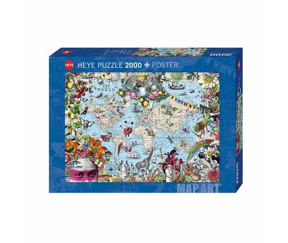 Heye 29913 - Puzzle 2000 Pezzi: Quirky World
