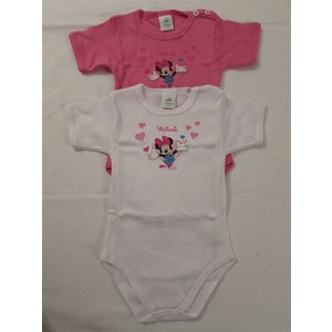 BODY BIMBA DISNEY 2 PZ IN COTONE GARZATO ART BYD13M MEZZA MANICA