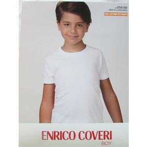MAGLIA INTIMA BIMBO MEZZA MANICA GIROCOLLO ENRICO COVERI 3 PZ ART ET4100 IN COTONE PETTINATO