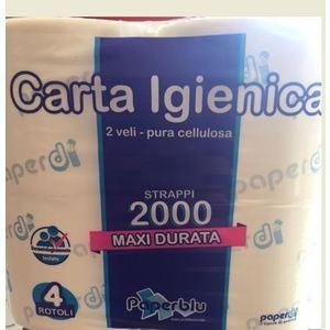 CARTA IGIENICA 4 ROTOLI 2000  SACCA DA  10 CONFEZZIONE