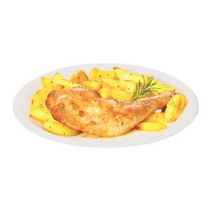 Pollo Arrosto con Patate al Forno