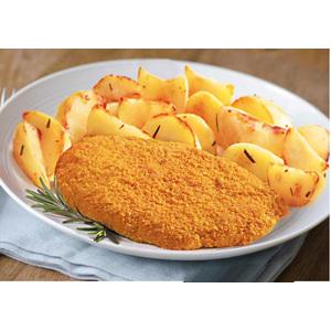 Cotoletta di Pollo con patate al Forno
