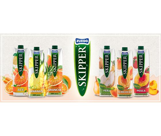 SUCCHI DI FRUTTA SKIPPER - confezione 12 bricks da 100 cl