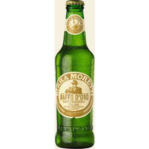 BIRRA MORETTI BAFFO D'ORO BIONDA - confezione 24 bottiglie da 33cl