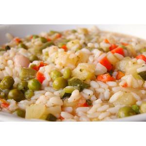 Minestrone di riso alla milanese con crostini