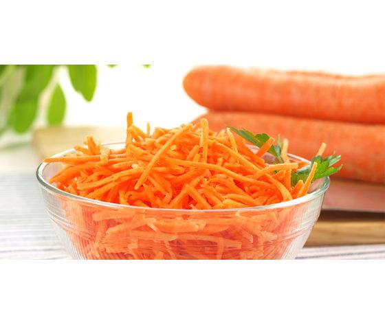 Insalata di carote a julienne non condita
