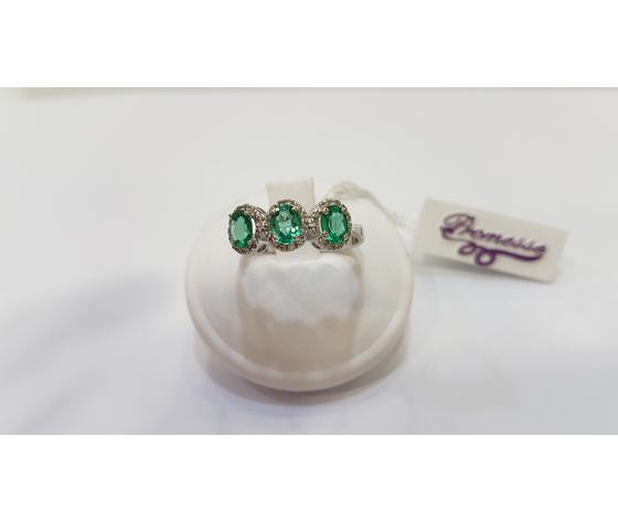 Gioielli donna anello Promesse smeraldi