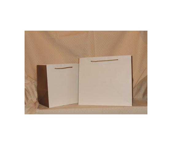 Sacchetti plastificati opachi bianchi e oro