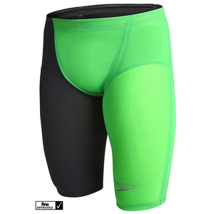 LZR ELITE 2 JAM AM FASTSKIN SPEEDO COSTUMONE UOMO DA GARA GREEN7BLACK 8-09145A845 TG 26  IT 40