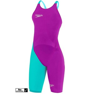 SPEEDO LZR ELITE 2 OPBK KSKN V2 AF DONNA COSTUMONE DA GARA FASTSKIN SPEEDO TG 22 IT 32 COL PURPLE BLU