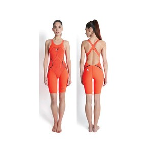 SPEEDO FEMALE LXR RACER X OPEN BACK KNEESKIN DONNA COSTUME DA GARA FASTSKIN