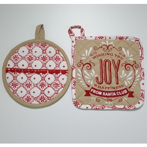 COPPIA PRESINE NATALIZIE LOVELY SHABBY IDEA REGALO joy