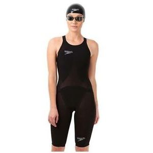 COSTUME GARA DONNA  SPEEDO  LZR FASTSKIN RACER ELITE 2 OPENBACK KNEESKIN TG IT 33 GB 23 NOVITA' BLACK