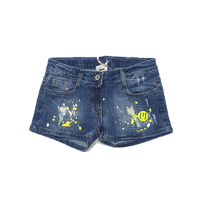 Imperfect Short jeans pittato