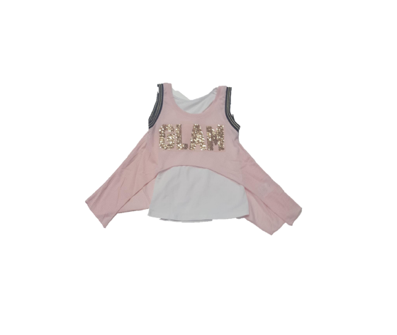 Shirt canotta rosa/oro Glam Relish