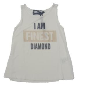 Canotta bianca  diamond Relish