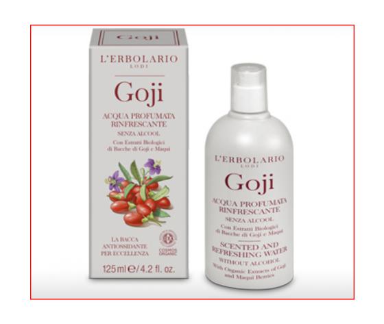 L'Erbolario Goji Acqua profumata rinfrescante senz'alcool