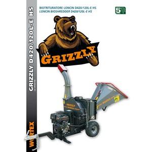 Biotrituratore GRIZZLY D420/120 L E HS
