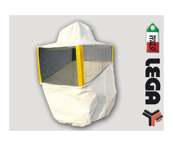 Maschera quadrata per tuta compatta bianca