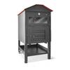 Forno a legna da internoincasso nero casetta maxi con bruciatore metallo 95x103x160