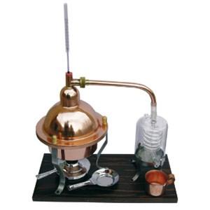 Distillatore Alambicco in Rame e Vetro