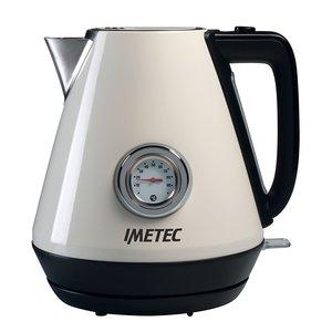 Imetec KT 100 Bollitore, Rapida Ebollizione, 1.7 l, Indicatore di Temperatura Acqua, Acciaio inox, 2200 W, con Guida Tè e Tisane