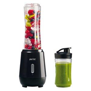 Imetec PB 100 Personal Blender, Mini Frullatore per Frullati e Smoothies con 2 Bottiglie Take-Away in Tritan, 4 Lame in Acciaio Inox, Funzione Pulse
